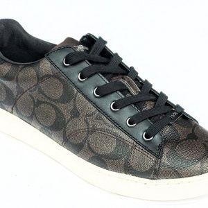 Coach Womens C126 C Signature Sneakers Brown/Black